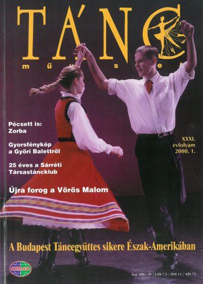 tancmuveszet-2000-1-címlap