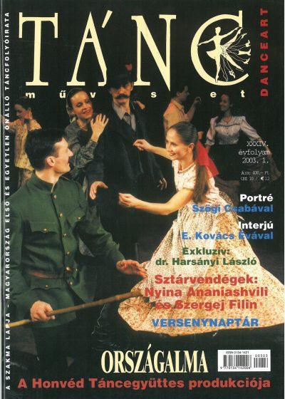 tancmuveszet-2003-1-címlap