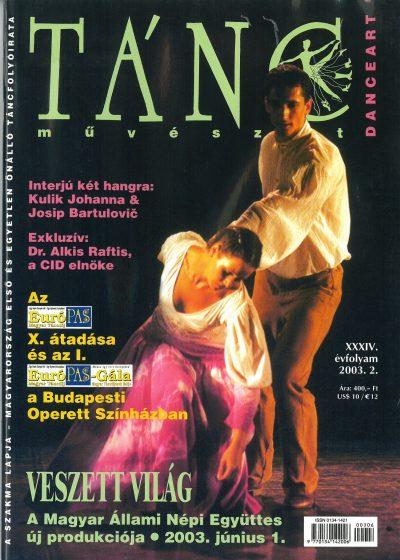 tancmuveszet-2003-2-címlap