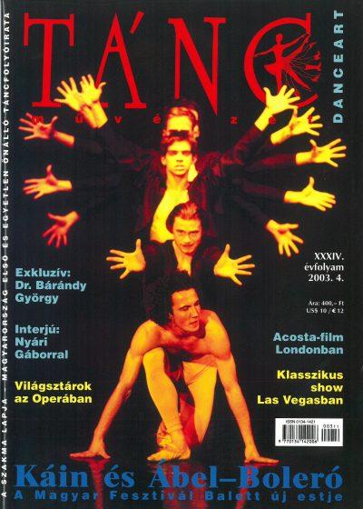 tancmuveszet-2003-4-címlap