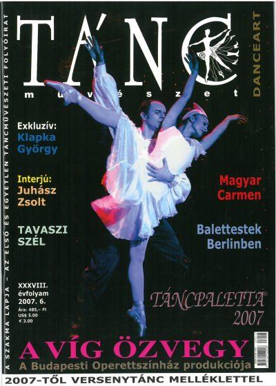 tancmuveszet-2007-6-címlap