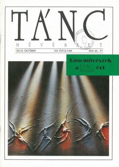 tancmuveszet-1991-10-címlap