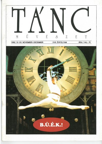 tancmuveszet-1992-11-12-címlap