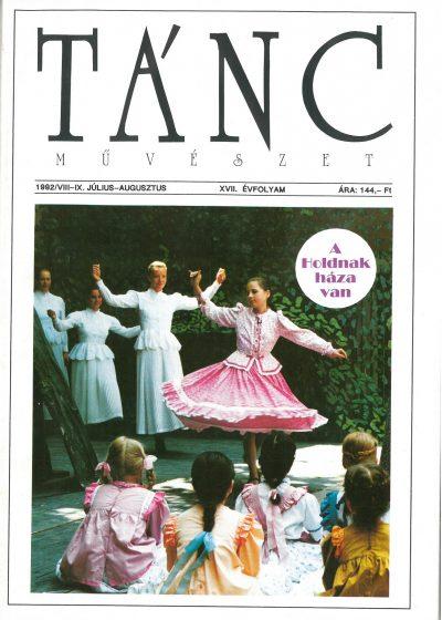tancmuveszet-1992-7-8-címlap