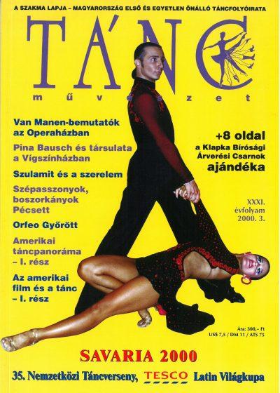 tancmuveszet-2000-3-címlap