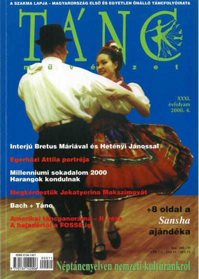 tancmuveszet-2000-4-címlap