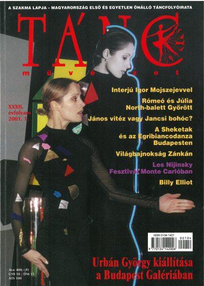 tancmuveszet-2001-1-címlap
