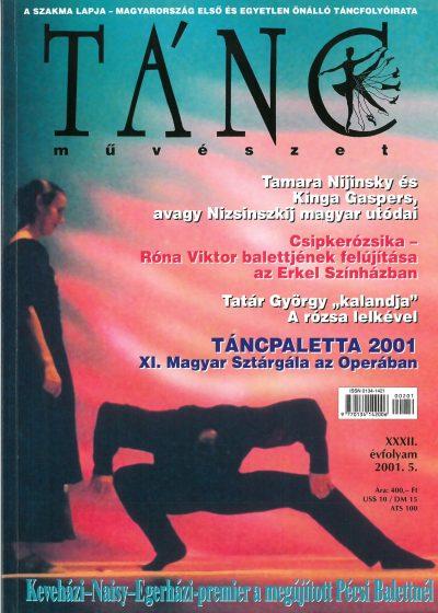 tancmuveszet-2001-5-címlap