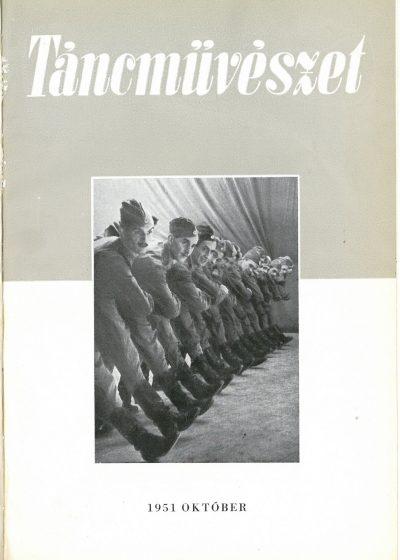 tancmuveszet-1951-10-címlap