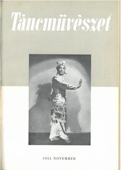 tancmuveszet-1951-11-címlap