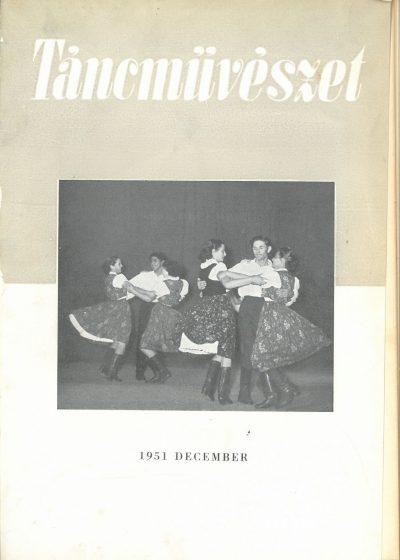 tancmuveszet-1951-12-címlap