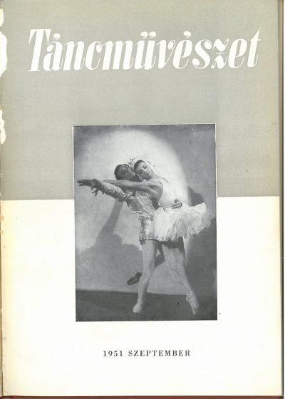 tancmuveszet-1951-9-címlap