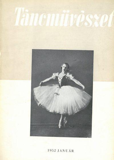 tancmuveszet-1952-1-címlap