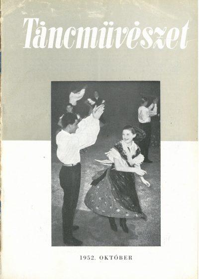 tancmuveszet-1952-10-címlap