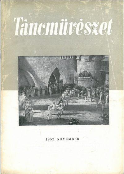 tancmuveszet-1952-11-címlap