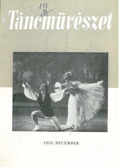 tancmuveszet-1952-12-címlap