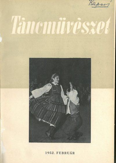 tancmuveszet-1952-2-címlap
