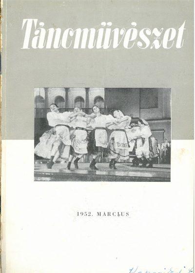 tancmuveszet-1952-3-címlap
