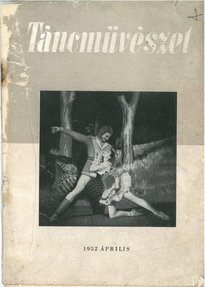 tancmuveszet-1952-4-címlap