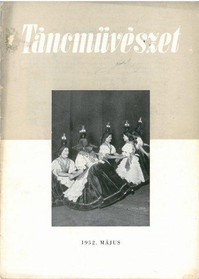 tancmuveszet-1952-5-címlap