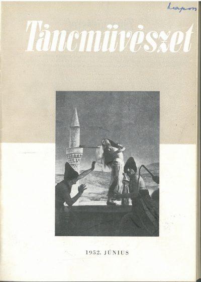 tancmuveszet-1952-6-címlap