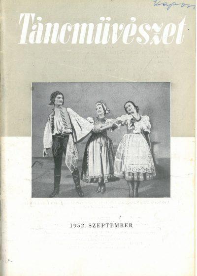 tancmuveszet-1952-9-címlap