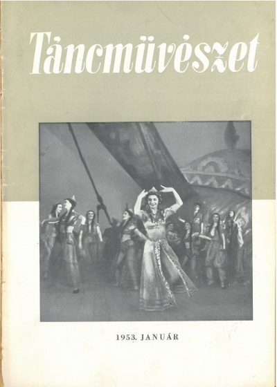 tancmuveszet-1953-1-címlap