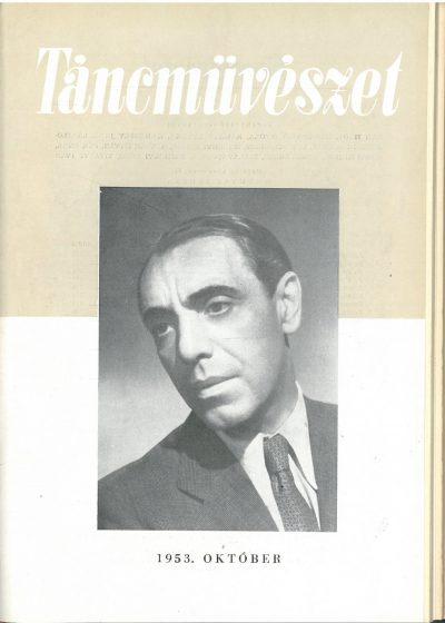 tancmuveszet-1953-10-címlap