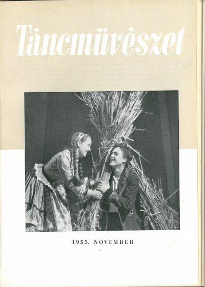 tancmuveszet-1953-11-címlap