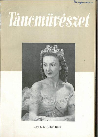 tancmuveszet-1953-12-címlap