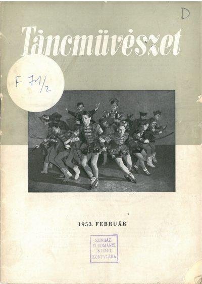 tancmuveszet-1953-2-címlap