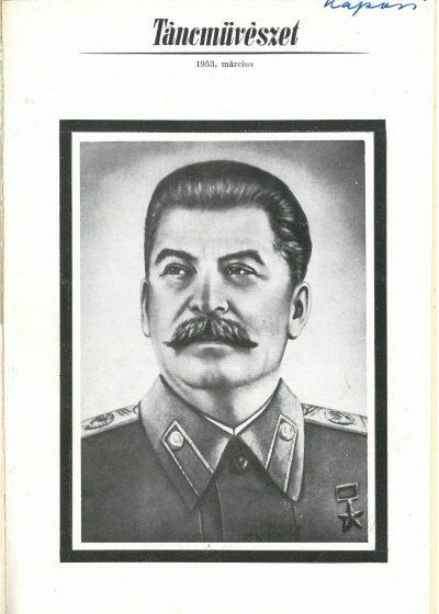 tancmuveszet-1953-3-címlap