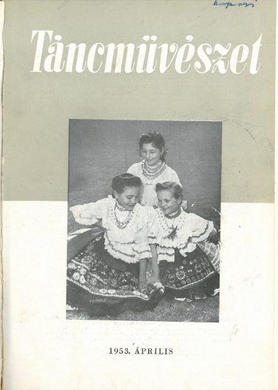 tancmuveszet-1953-4-címlap