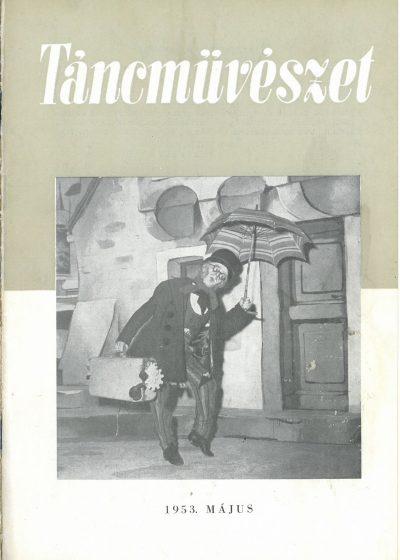 tancmuveszet-1953-5-címlap