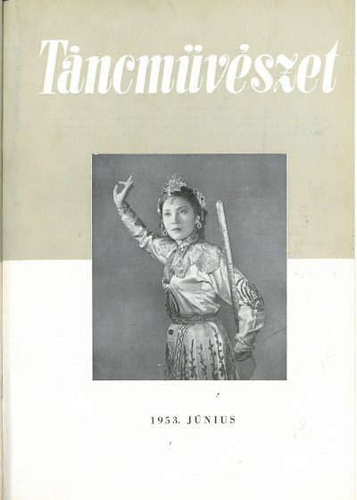 tancmuveszet-1953-6-címlap