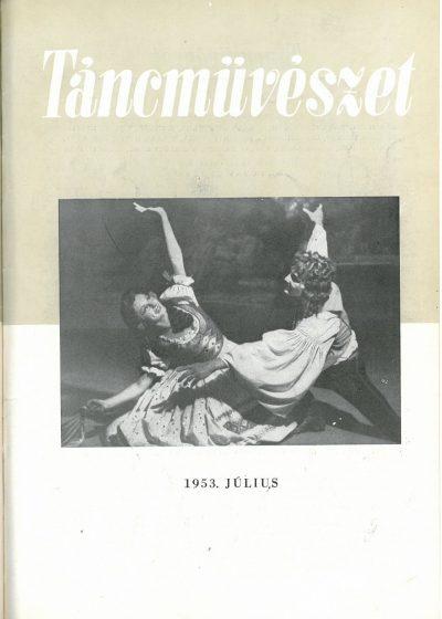 tancmuveszet-1953-7-címlap