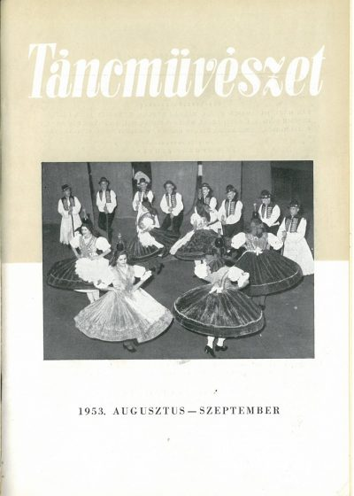 tancmuveszet-1953-8-9-címlap
