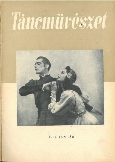 tancmuveszet-1954-1-címlap