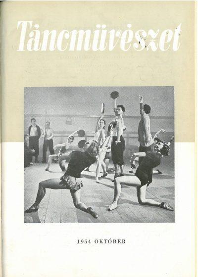 tancmuveszet-1954-10-címlap