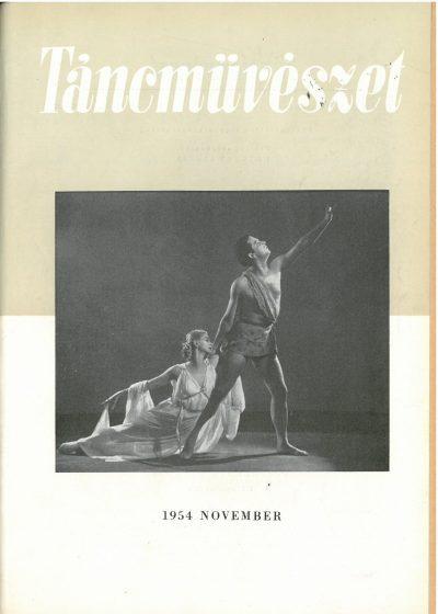 tancmuveszet-1954-11-címlap