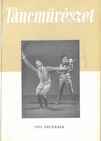 tancmuveszet-1954-12-címlap