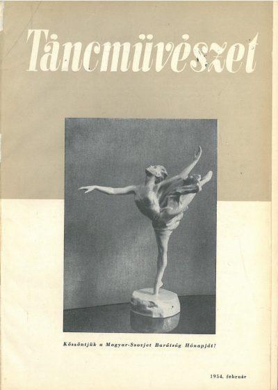 tancmuveszet-1954-2-címlap