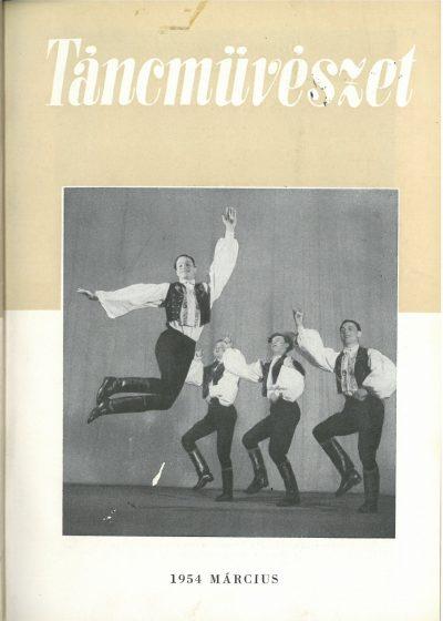 tancmuveszet-1954-3-címlap