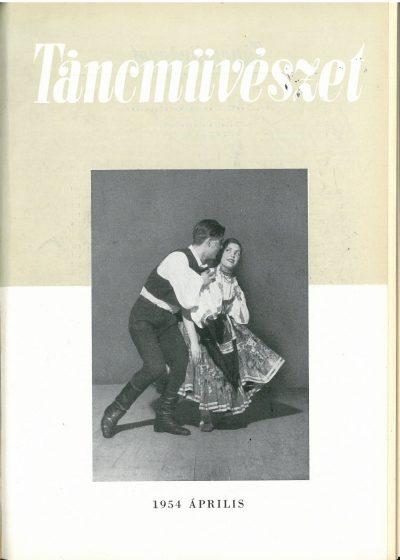 tancmuveszet-1954-4-címlap