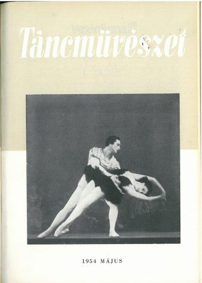 tancmuveszet-1954-5-címlap