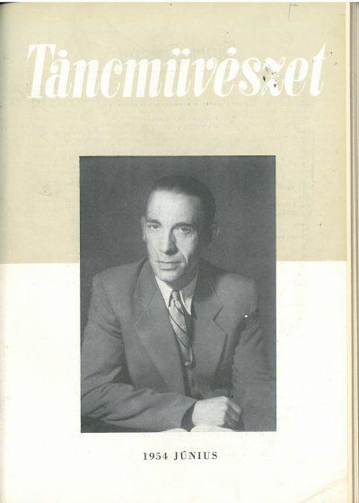 tancmuveszet-1954-6-címlap