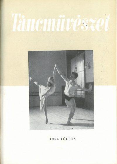 tancmuveszet-1954-7-címlap