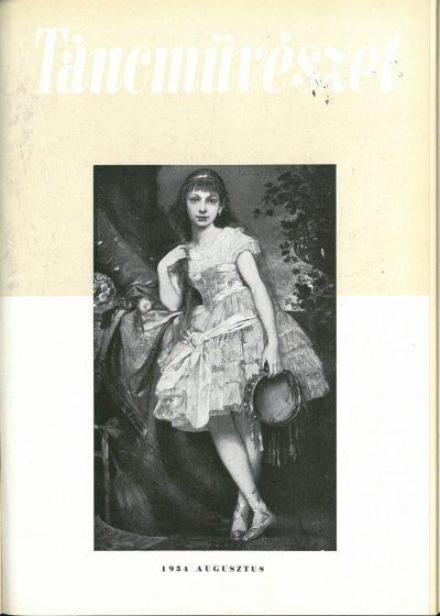 tancmuveszet-1954-8-címlap