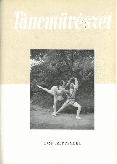 tancmuveszet-1954-9-címlap