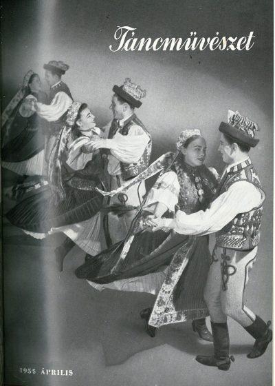 tancmuveszet-1955-4-címlap